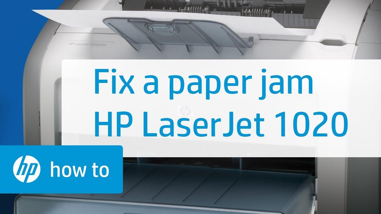 Fixing A Paper Jam Hp Laserjet 1020 Printer Youtube