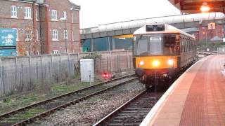 Class 121` bubble car` 15.50 Aylesbury to Princes Risborough 6/12/11 in BR green !!!