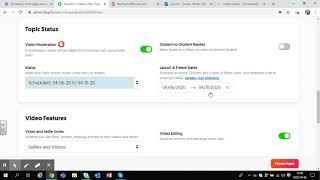 Tutoriel Flipgrid - paramètres et modification d'un thème