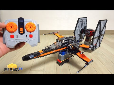 Lego Star Wars 75102 75101 Rc Motorized Poes X Wing Fighter