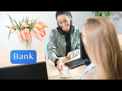 At the Bank - English Conversation