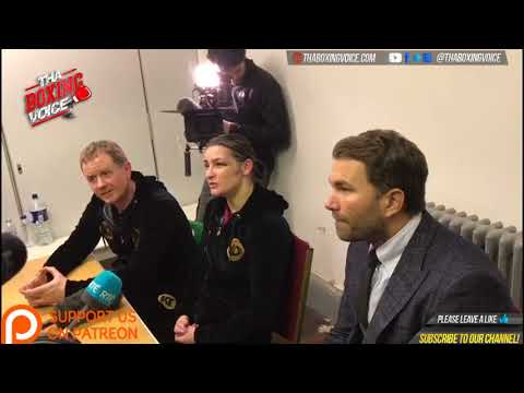 Katie Taylor Post Fight Press Conference Following Win Over Jessica Mccaskill