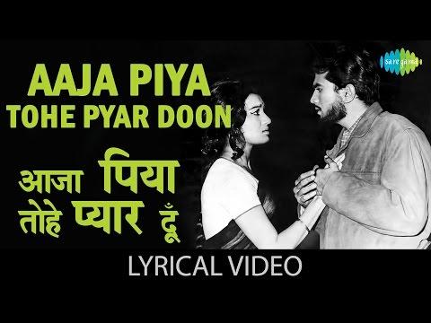 Aaja Piya Tohe with lyrics   आजा पिया तोहे गाने के बोल  Baharon ke Sapne  Asha Parekh, Rajesh Khanna