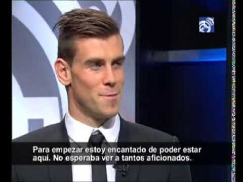 Gareth Bale's first interview with RMTV / Primera entrevista a Bale con RMTV