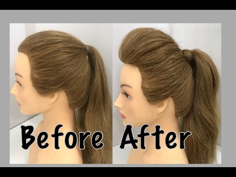 2 Ways To A Ponytail With Puff : Easy Hairstyles