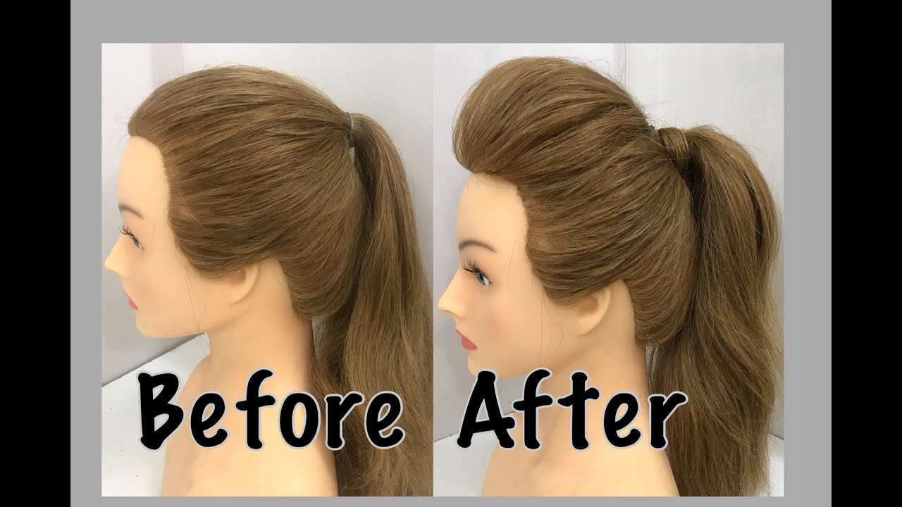 2 Ways to a Ponytail with Puff : Easy Hairstyles - ArtsyCraftsyDad