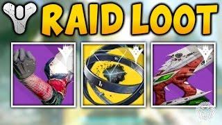 Destiny: KINGS FALL RAID LOOT! Exotic Item, Raid Weapons & Raid Armor (Kings Fall Loot Drop Rewards)