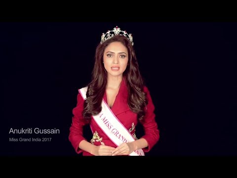 Anukriti Gusain fbb Femina Miss Grand India 2017: Stop the War and Violence Campaign