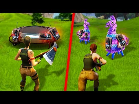 LUCKY LLAMA & LAUNCH PAD C4 TRAP in ONE Fortnite Game!