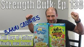 OMAD 3,400 Calories Full Day of Eating | Got new Cereal | Vlog | Strength Bulk Ep. 138