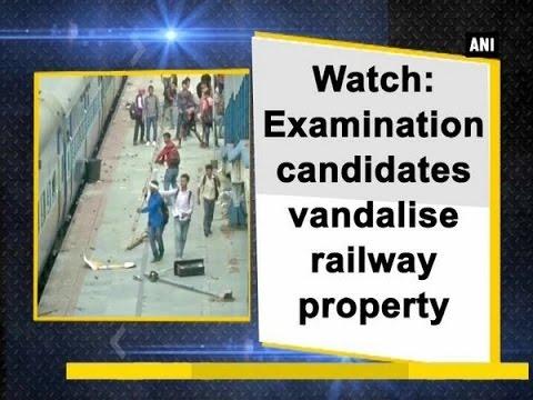 Watch: Examination candidates vandalise railway property - West Bengal News