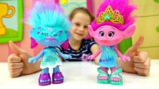 Видео для детей. Тролли Розочка и Синелька в салоне красоты