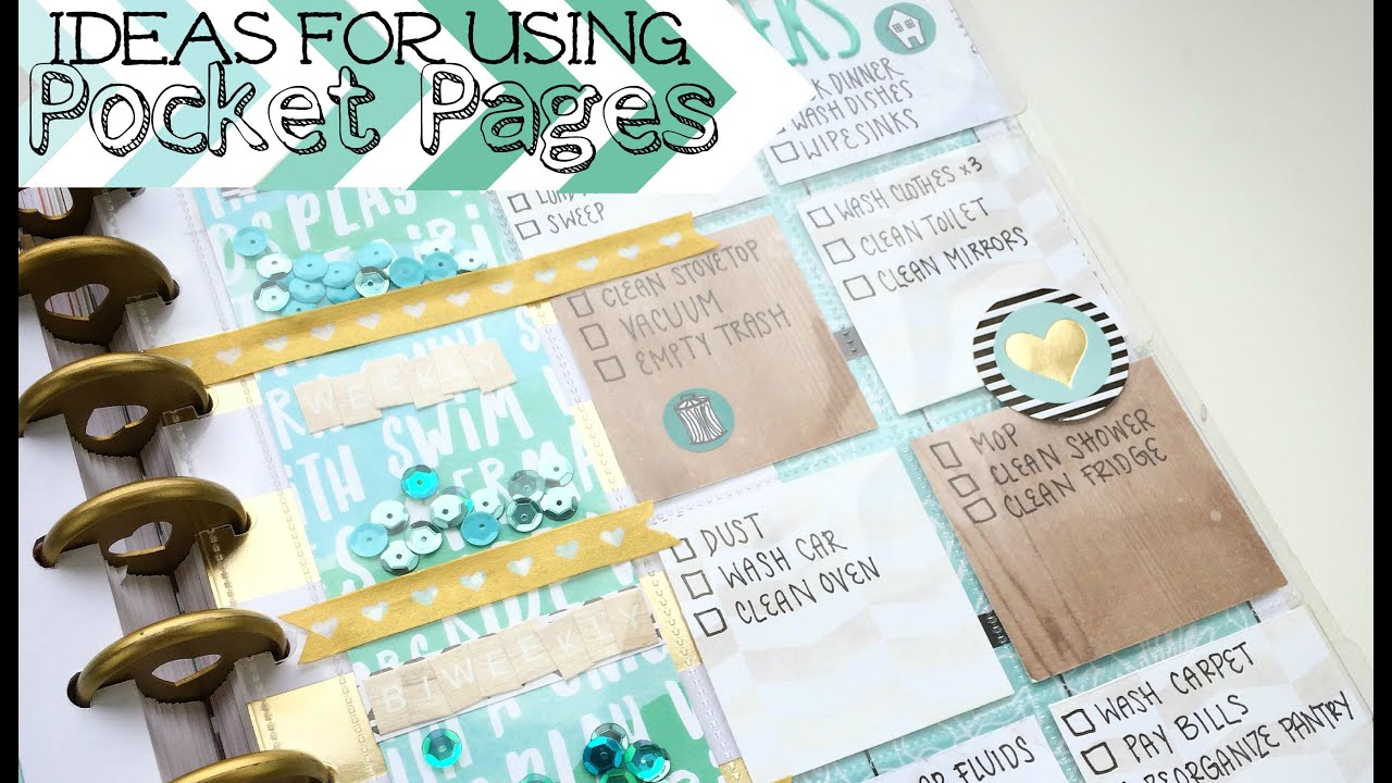 How To Use Happy Planner Pocket Pages Youtube