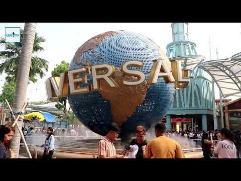 Universal Studio Singapore Rotating Globe