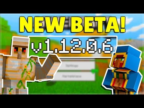 mcpe-1.12.0.6-beta-new-api-modding!-minecraft-pocket-edition-rip-derpy-villagers-&-cats!
