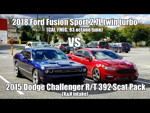 Ford Fusion Sport vs Dodge Challenger Scat Pack
