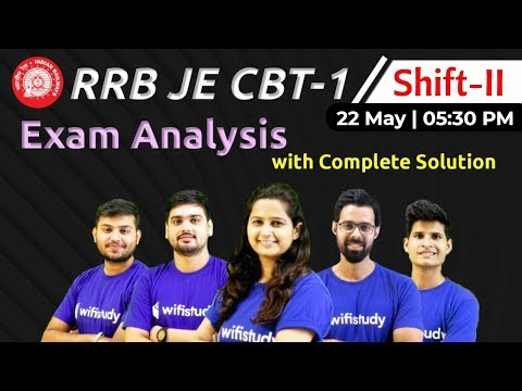 RRB JE 2019 (22 May 2019, 2nd Shift)   JE CBT-1 Exam Analysis & Asked Questions