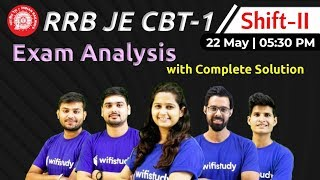 RRB JE 2019 (22 May 2019, 2nd Shift) | JE CBT-1 Exam Analysis & Asked Questions