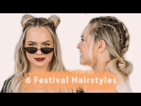 [VIDEO] - 6 Festival Hairstyles - KayleyMelissa 2