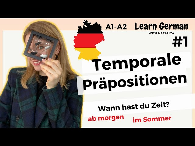 GERMAN Prepositions of Time (1/7). How to answer to question WANN?/A1-A2 /Learn German with Natalia