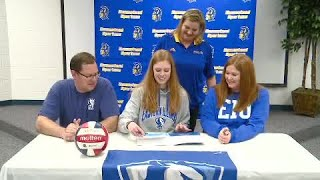 Emily Wilcox full interview on signing with Eastern Illinois for volleyball on 11/14/19