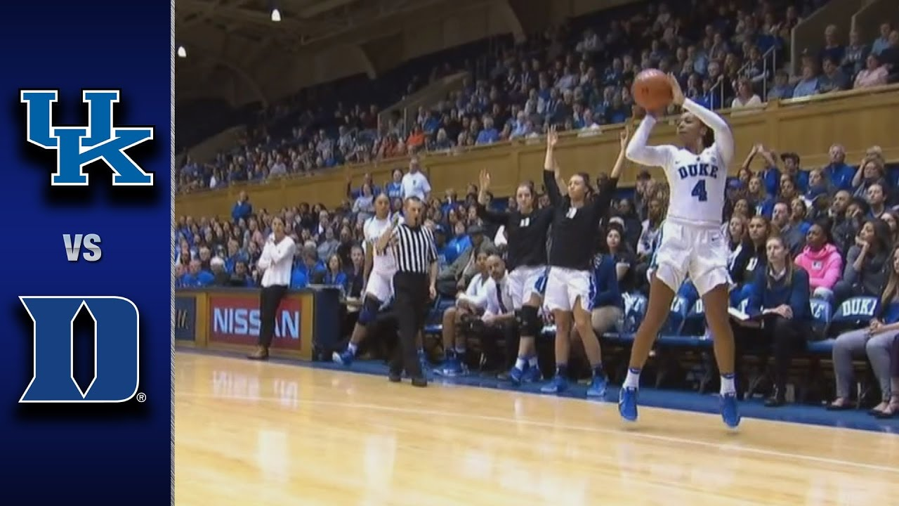 Uk Basketball: Duke Vs. Kentucky Women's Basketball Highlights (2016-17