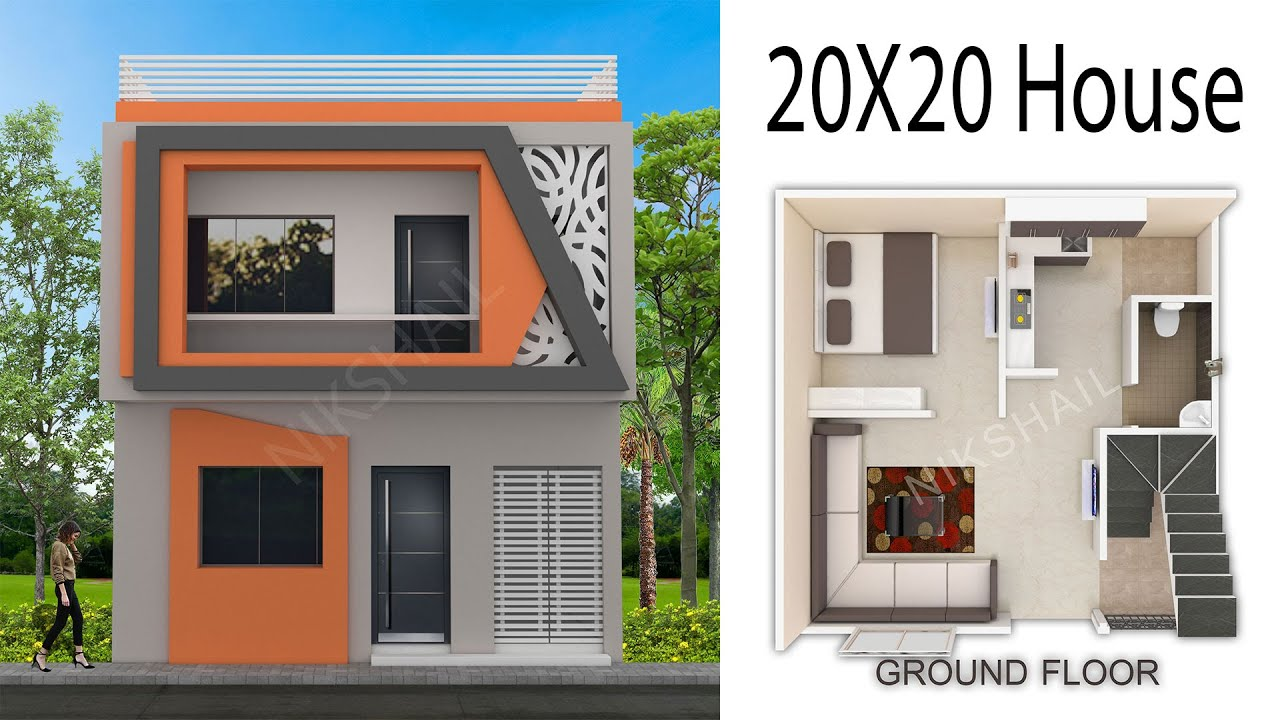 20x20 House Design 400 Sqft House With 3d Elevation By Nikshail Youtube,House Of The Rising Sun Guitar Lesson For Beginners