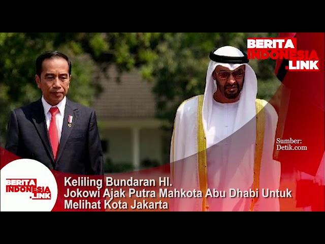 Presiden Jokowi menyambut kedatangan Putera Mahkota Abu Dhabi dan ajak keliling Jakarta.