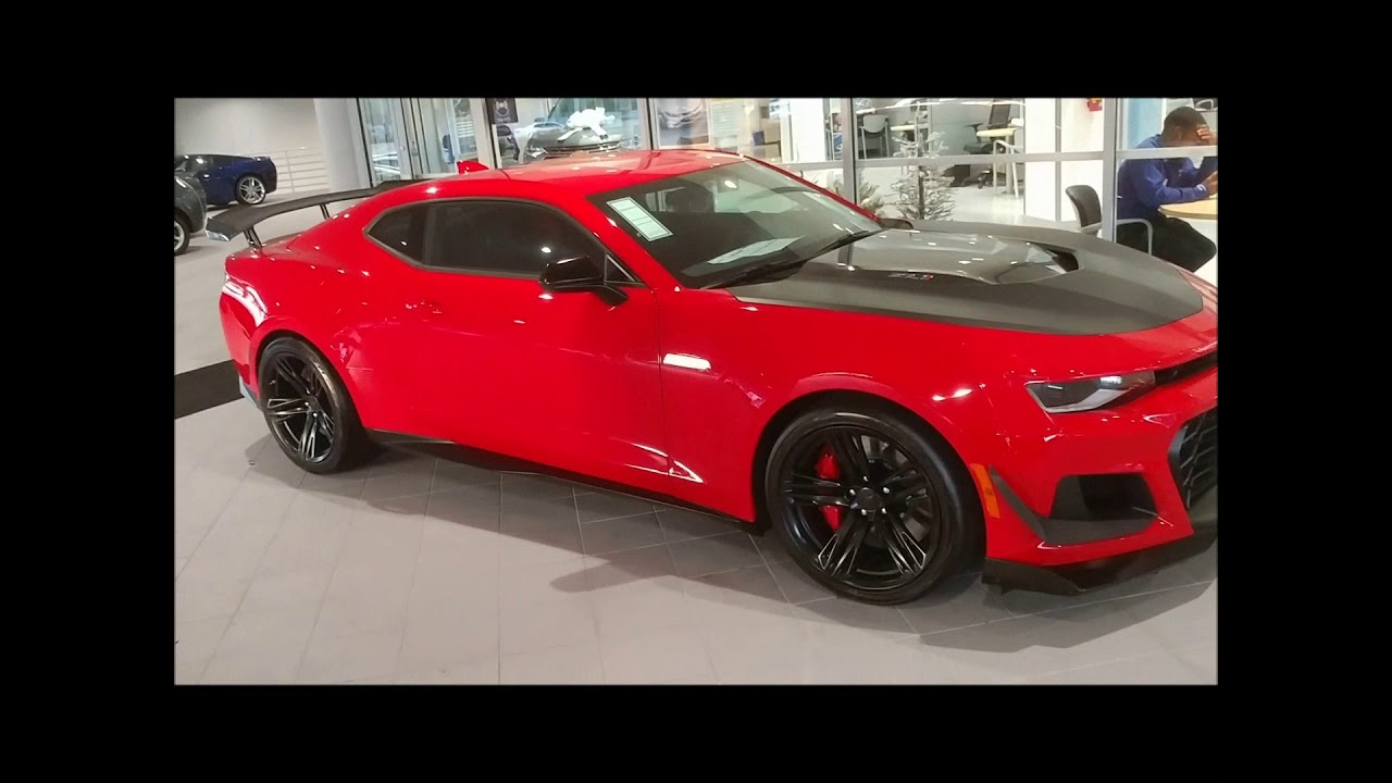 Car Won T Start >> Red 2018 Chevrolet Camaro ZL1 1LE walk around and cold start up - YouTube