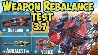 War Robots Test Server 3.7 NEW Weapon Rebalance - WR Gameplay