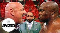 Goldberg enfrenta a Bobby Lashley y a MVP en RAW WWE Ahora Ago 2 2021