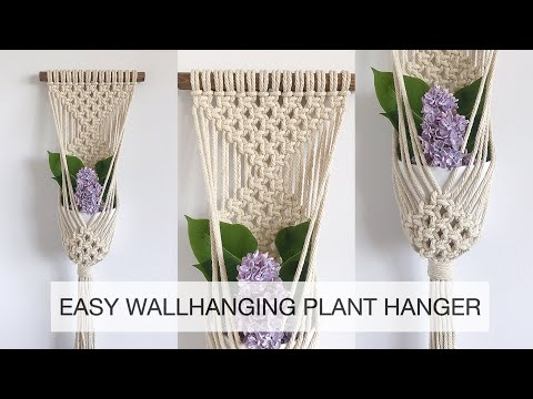 how-to-make-a-macrame-wallhanging-plant-hanger- -macrame-tutorial- -easy-macrame-planthanger-#3