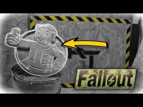 Fallout Vault Boy Logo - Aluminum Metal Casting