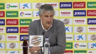 Rueda De Prensa De Quique Setién Tras El Villarreal Betis