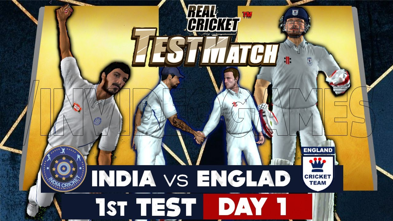 Day 1 - 1st Test India vs England Real Cricket 20 Expert Mode Match  Live Stream
