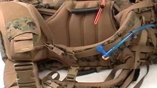 Huge Internal Frame USMC ILBE MOLLE Main Pack used for hiking and camping