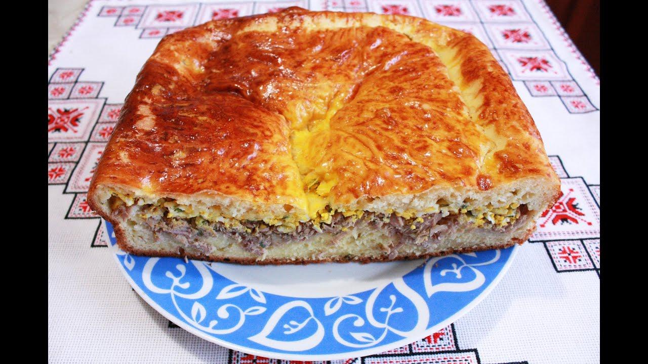 Рыбный пирог рецепт Дрожжевое тесто рецепт Тесто для ...
