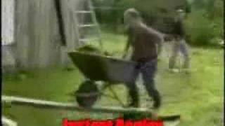 Funny Wheelbarrow Accident
