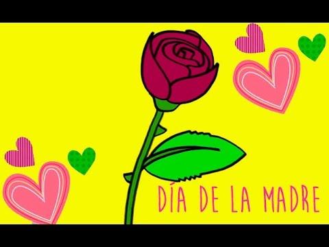 Regalos para el Da de la Madre Aprende a dibujar una rosa  YouTube