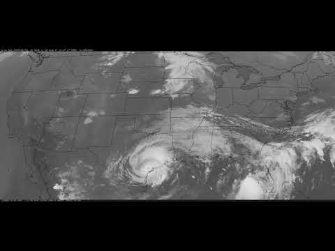 Hurricane Harvey   Texas   August 2017   Satellite GOES 16