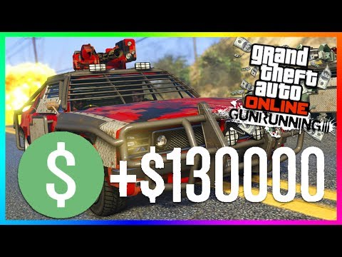 Save GTA ONLINE GUNRUNNING DLC - HOW TO MAKE THE MOST MONEY $130,000 IN 11 MINUTES TO BUY ALL NEW ITEMS! Pics