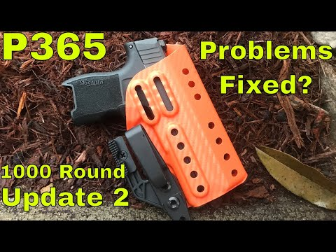 Sig P365 - Post 1000 Round Range Day Update: 2 - Is Sig Fixing The Problem Fixed?