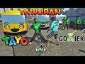 TAWURAN!! GOJEK VS SOPIR BUS TAYO - GTA 5 GOJEK PARODY