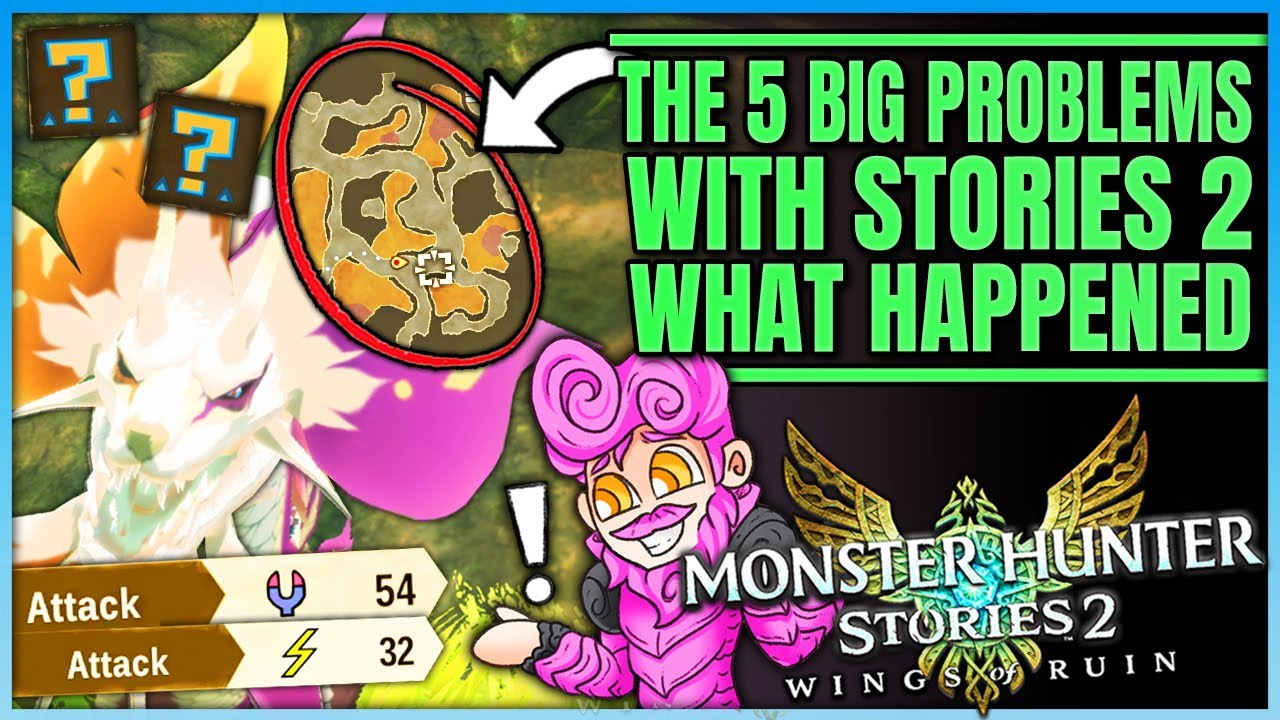 The 5 Worst Things in Stories 2 - Element Changing + Broken Maps + More - Monster Hunter Stories 2!