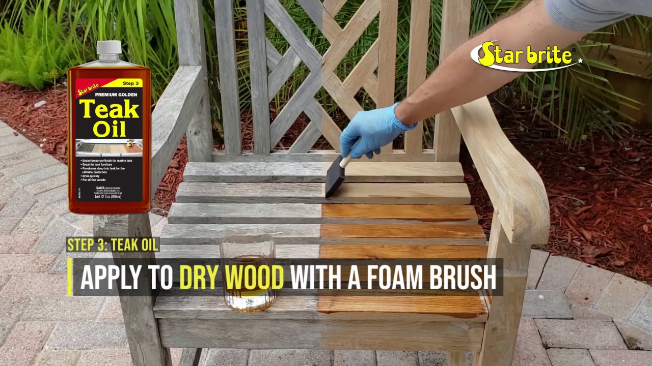 How To Clean Restore Weathered Teak Furniture In 3 Steps Youtube