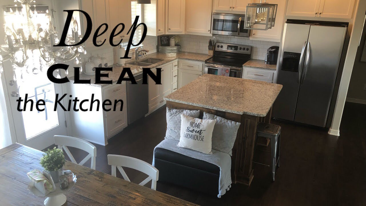 DEEP CLEAN THE KITCHEN | CLEAN WITH ME | KITCHEN CLEANING - YouTube