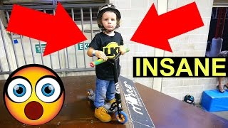 2 YEAR OLD PRO SCOOTER KID!!!