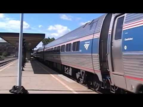 D&H & Amtrak trains in Schenectady, NY 9/3/2014