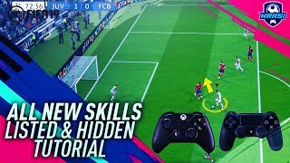 FIFA 19 ALL NEW SKILLS TUTORIAL - LEARN ALL NEW 10 TRICKS & MOVES