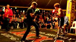 Fred Brophy Tent fights blackwater mayday 2011 - Red Baron (2nd Fight) Rd 1